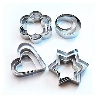 12 pcs Cookie Cutters for making Cake & Cookies