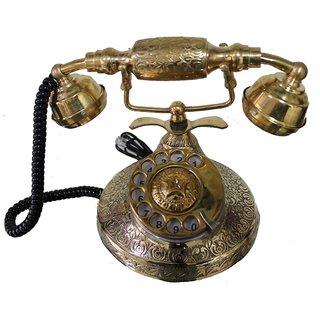 Somyaleger Brass Maharaja Rotary Dial Telephone