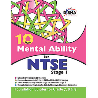 Mental Ability for NTSE for class 10 (Quick Start for grade 7, 8,  9)