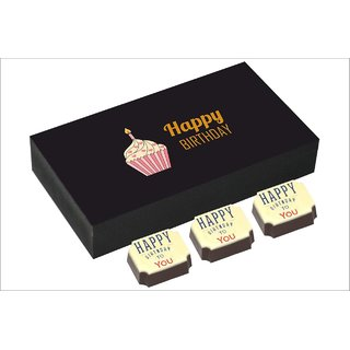 Chococraft- Cup Cake Box With Happy Birthday To You Candies -6Pcs Box