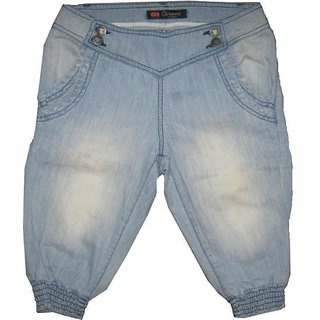 Girls Denim 3/4 Pant