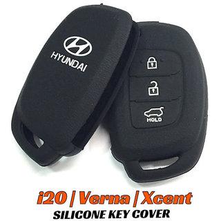 Premium Silicone Car Key Cover for New Hyundai i20, Verna, Xcent (GREY)