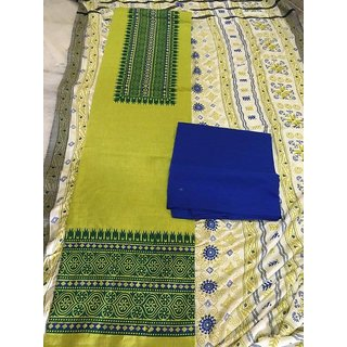 Cotton Bottom and Top With Pashmina Dupatta