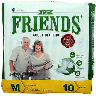 Friends Adult Diapers (SizeM) 10's Pack