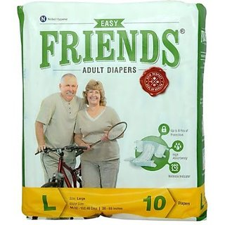 FRIENDS EASY ADULT DIAPER SIZE LARGE (10 Diapers)