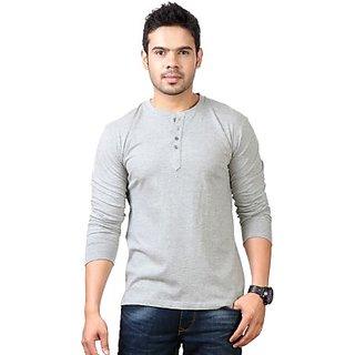 Mens Henley Grey T-Shirt