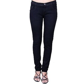 People Slim Fit Womens BLACK Jeans