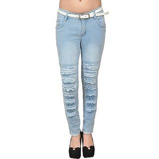 Slim Fit Womens LIGHT BLUE Jeans
