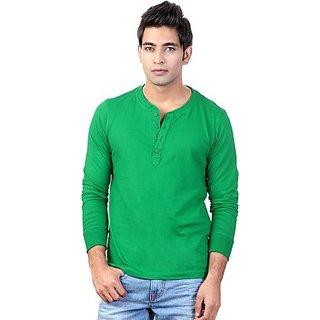 Mens Henley Green T-Shirt