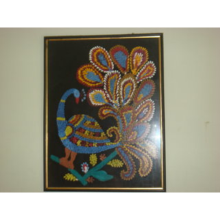 Original Nib Painting ( Dancing Pecock)