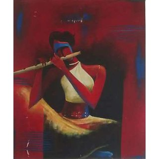 Painting Of Girl With Flute