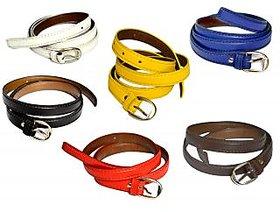 woman multicolour 6 belt combo