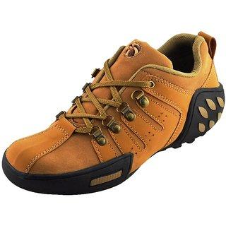 Elvace Tan Woodleaf Sneakers Men Shoes-7025