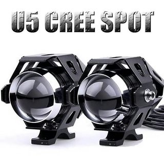 Bikers World U5 15w Projector Lens White Bike Motorcycle Hid Cree Led Driving Lights Daytime Fog Lamp Drl For Bajaj Pulsar 180