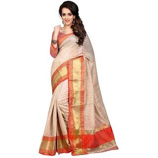 Meia Black Cotton Silk Self Design Saree With Blouse