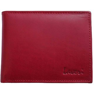 New designer laveri gifts red mens wallet (Synthetic leather/Rexine)