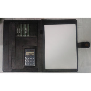 Leathrite File Folder with Free Gifts ( 1 Men Wallet, 1 Calculator )