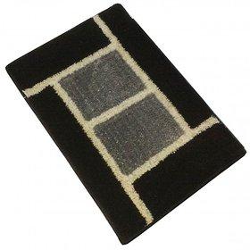 GHT-Luxurious Black/Grey Door Mat - 1003