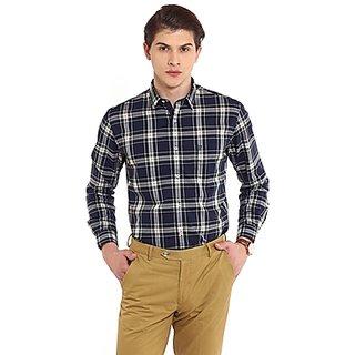 Oxford Club Decent Multi-Color Cotton Checks Shirt