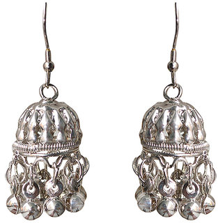 Jhumki By Silver Colour Sparkling Jewellery