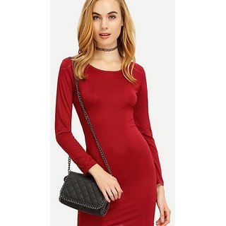 Buy Sexy Red latest women girl design fashion dress ed95aff62