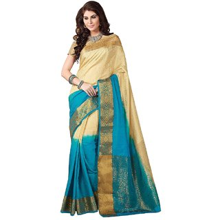 Tussar Silk Saree With Blouse Pcs