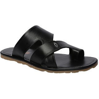 Shoe Bazar Casual Black Slippers