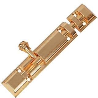 Royal Tower Bolt Brass 4 Inches Gold