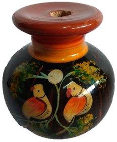 Handmade Wooden Flower Wooden Vase Dcor Art  craft