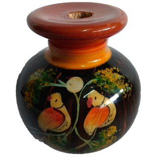 Handmade Wooden Flower Wooden Vase Dcor Art  craft