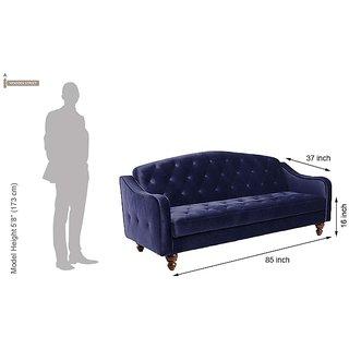 Blue Jodhpuri Sofa Cum Bed