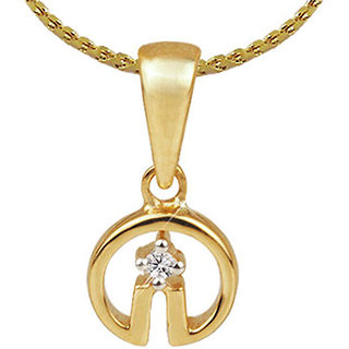 Diamond Pendant In Yellow Gold - SAN01