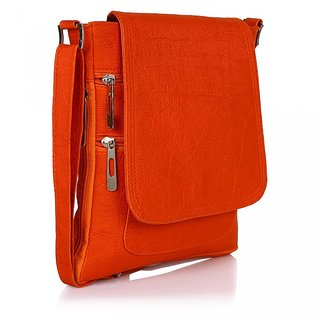 Prettyvogue Fashionable Womens  Orange Slingbag-PVSL1319