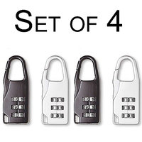 3 Digit Number lock Padlocks (Set of 4)