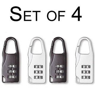 3 Digit Number lock Padlocks (Set of 4)