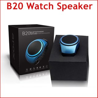 B20 Outdoor Sports MP3 Music Player Watch Portable Wireless Bluetooth Mini Speaker + Remote Control Selfie-timer + Phone
