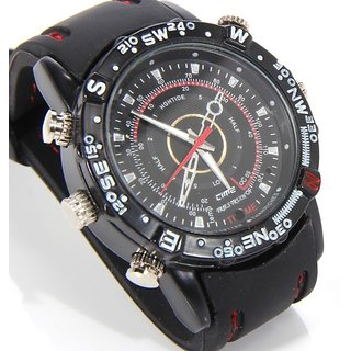 4 GB Waterproof Spy Camera Wrist Watch Audio Video Recorder