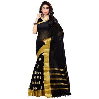Shanker Sarees DESGINER BLOUSE Black PLAIN SAREE