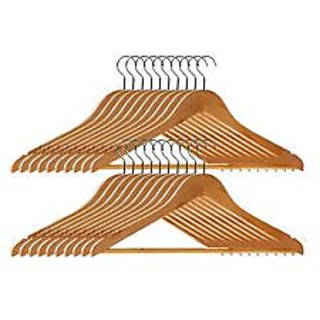 Right Traders Wooden Hanger Set Of 30