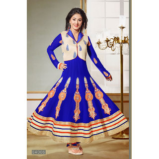 Ladyview Blue Georgette Embroidered Anarkali Suit