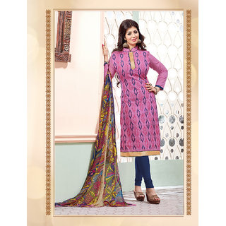 Ladyview Pink Cotton Embroidered Salwar Suit