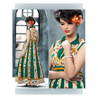 Ladyview Green Silk Embroidered Anarkali Suit
