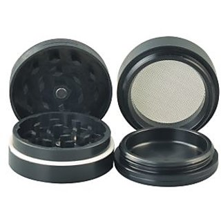 True Standard Aluminium Herb Grinder(4 Part, 50mm, Black)