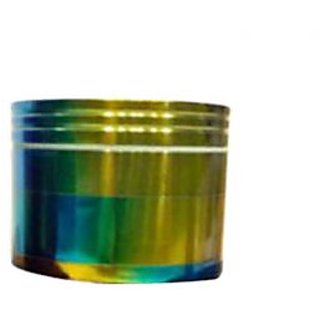 True Standard Aluminium Herb Grinder(4 Part, 40mm, Rainbow02)