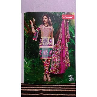 Ladies cotton suit unstitche