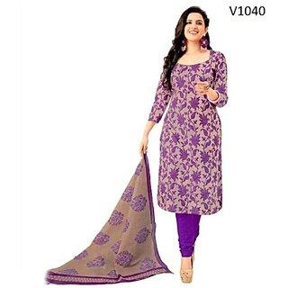 RichFashions Cotton Printed Salwar Suit Dupatta Material