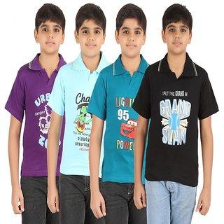 ZIPPY Combo Multi Color Boys Tshirt Pack of 4