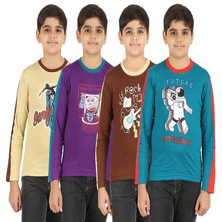 ZIPPY Octiva Combo Multi Color Boys Tshirt Pack of 4