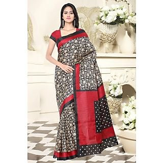 Sareemall Multi Colour  Khadi Silk  Saree with Unstitched Blouse HRV8302