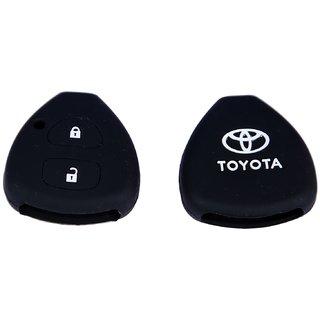 Silicon Car Remote Key Cover For Toyota New innova (2 Button) - Black